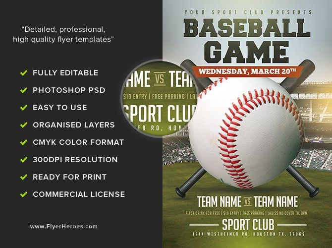 baseball flyer template free