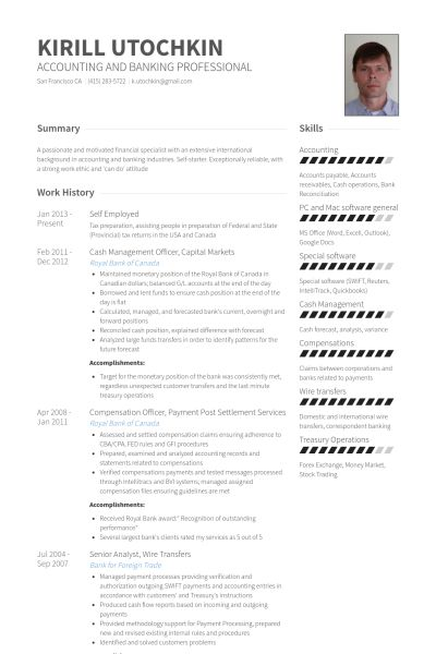 Self Employed Resume samples - VisualCV resume samples database