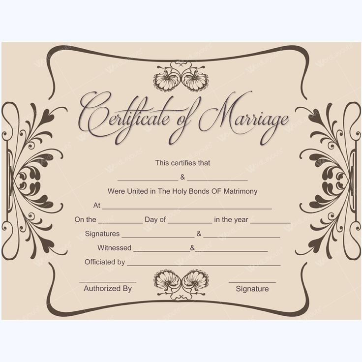 56 best Marriage Certificate Templates images on Pinterest ...