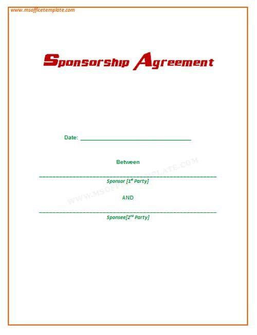 Microsoft Office TemplatesSponsorship Agreement