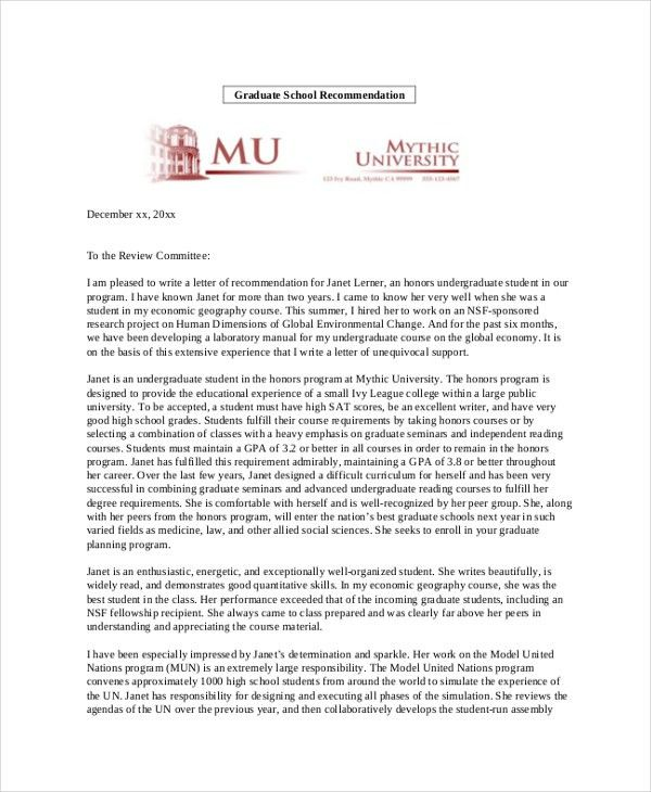 Sample Personal Recommendation Letter - 4+ Free Documents in PDF, Doc
