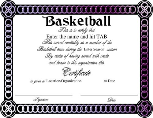 Sports Award Certificates | Certificate Templates