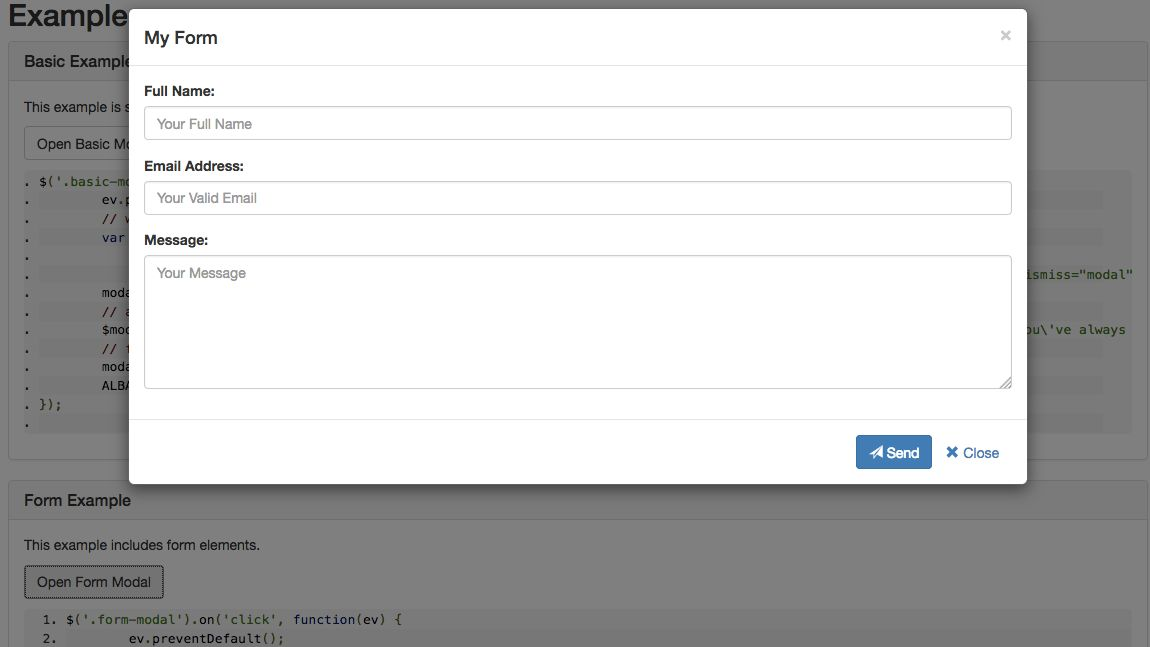 Bootstrap Modal Builder « jQuerylabs.com