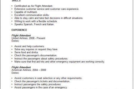 Flight Attendant Resume For Communication - Reentrycorps