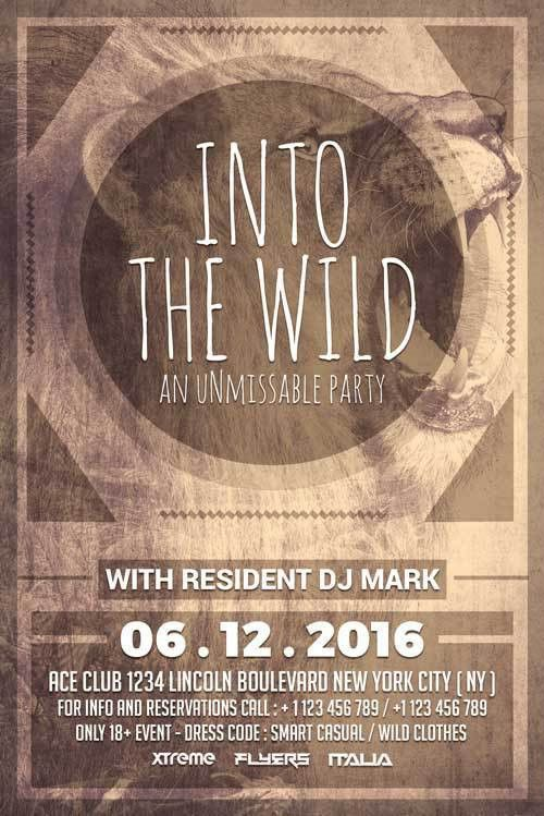 Wild Party Free PSD Flyer Template - http://freepsdflyer.com/wild ...