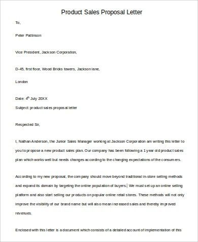 Sales Proposal. Sale Proposal Template Sales-Proposal-Template ...