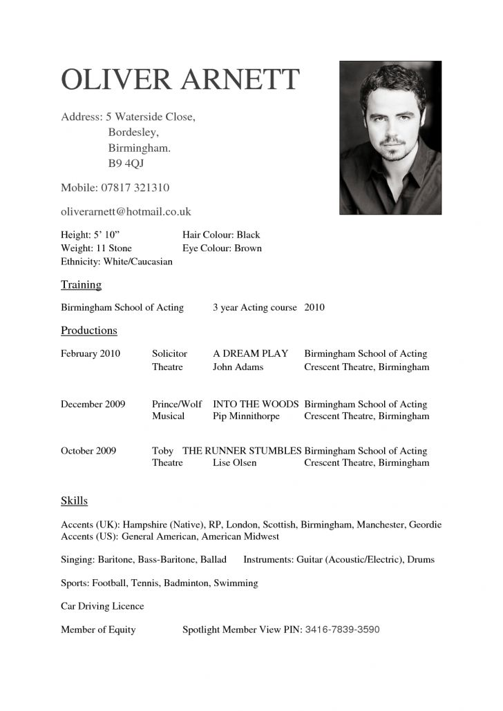 actor resume template microsoft word. resume examples child actors ...