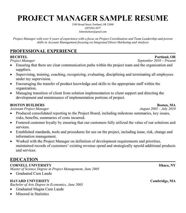 Project Coordinator Resume. Marvelous Design Ideas How To Write A ...