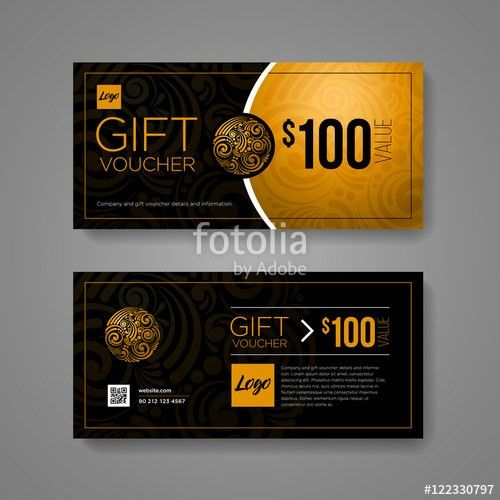 "Gift Voucher Design Template"" Stock image and royalty-free vector ..."
