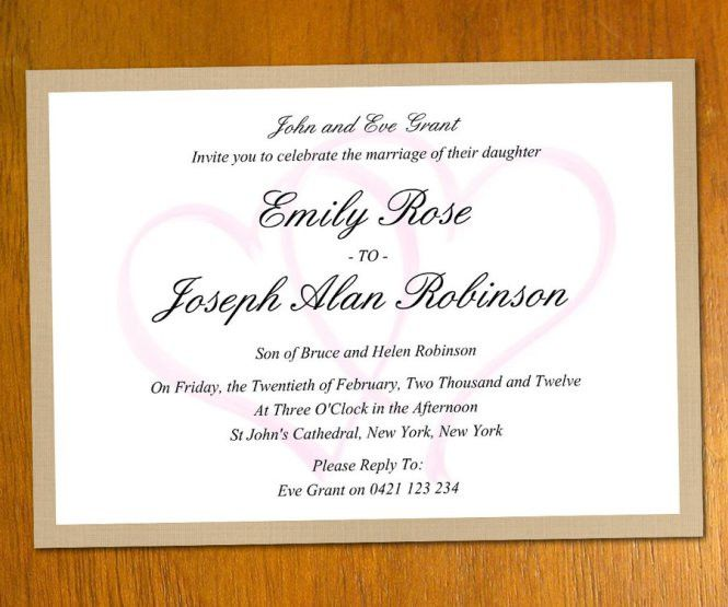 Wedding Invitation Letter Sample | PaperInvite