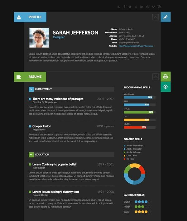 9 Creative Resume Design Tips (With Template Examples) | Tutorials ...
