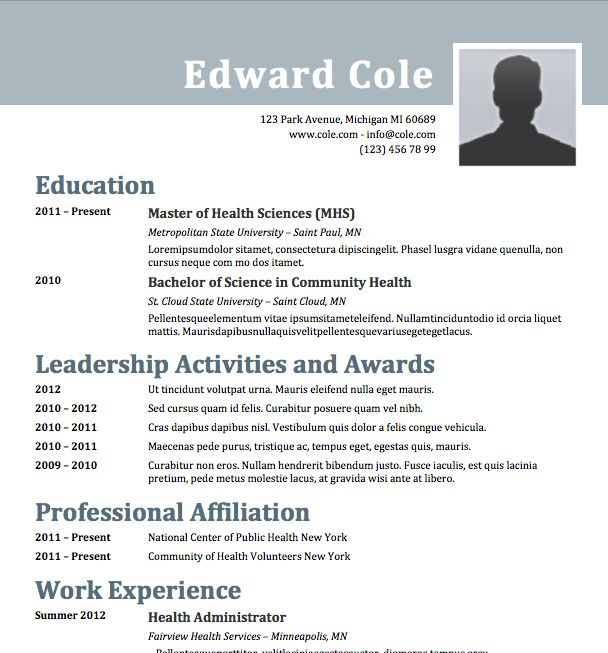 Free Resume Download Steely - Microsoft Word Format | resumes ...