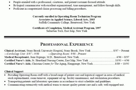 ER Registered Nurse Resume Examples - Reentrycorps