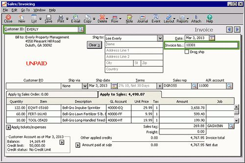 Sage 50 Learning: Editing a transaction