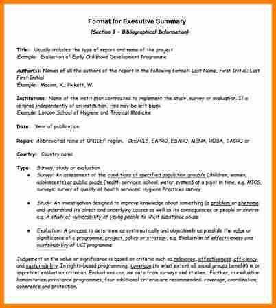 template for executive summary 31 executive summary templates