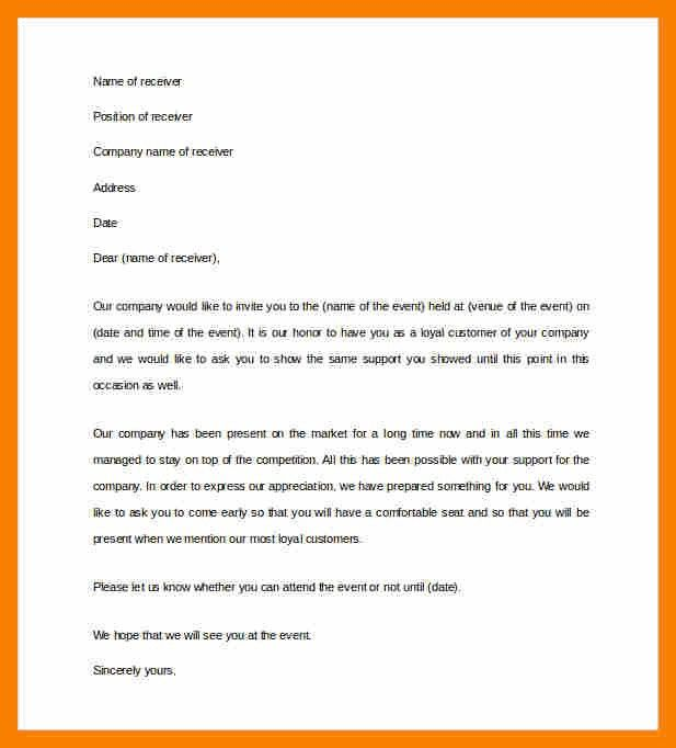 Business invitation letter format sample business invitation 6 invitation letter format biology resume stopboris Images
