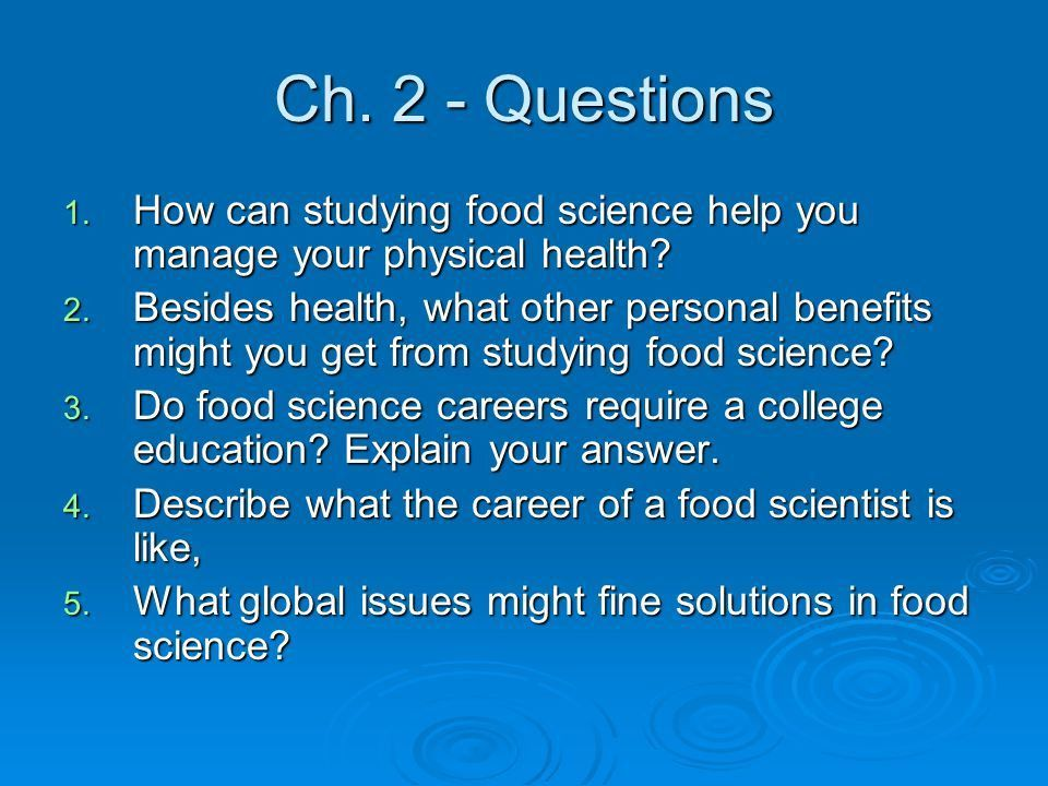 Why Study Food Science? Chapter ppt video online download