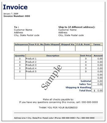 Sample Service Invoice. 4 Invoice Sample Doc | Printable Receipt ...