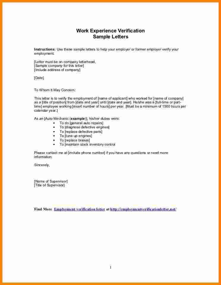 Sample Job Verification Letter From Employer | Documents, Letters ...