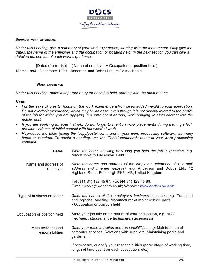 Pashto Dari Linguist Resume - Contegri.com