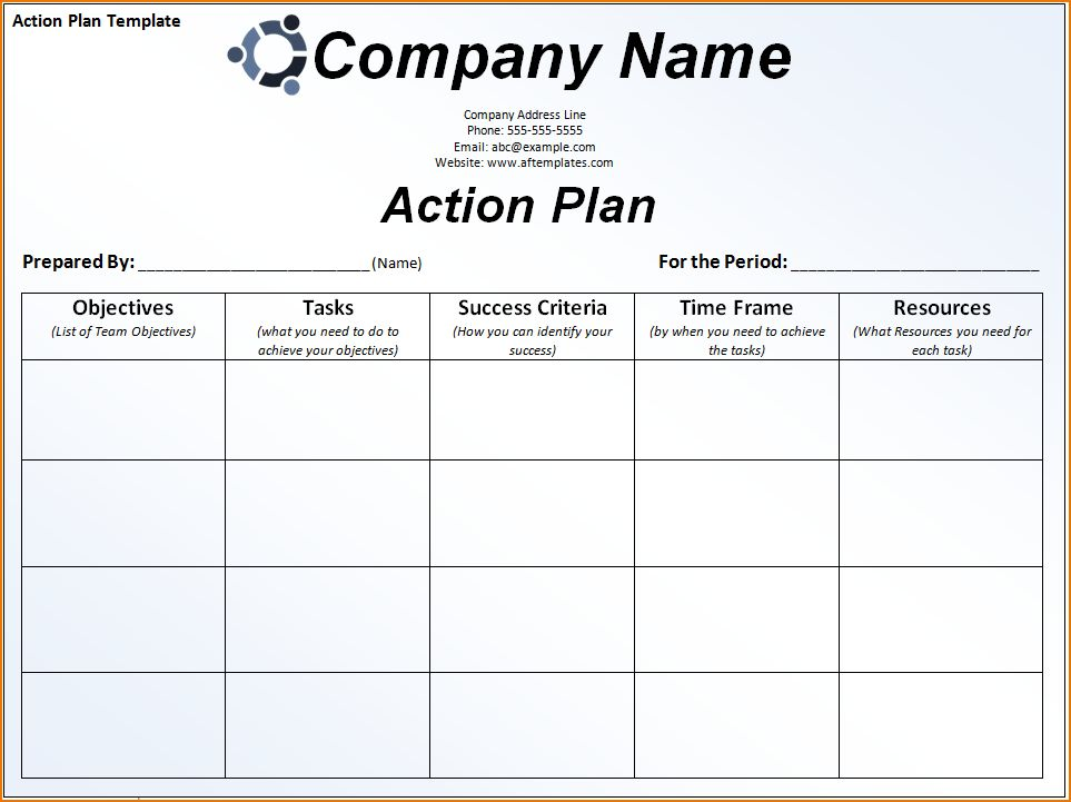6+ sample action plan template | teknoswitch