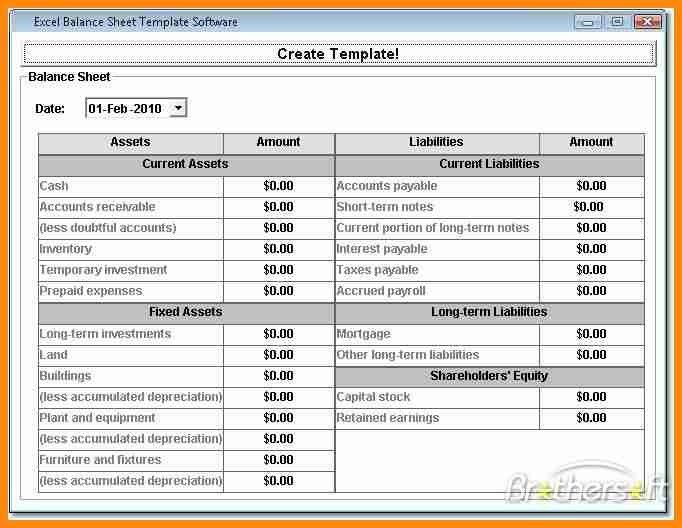 10+ company balance sheet format in excel | driver-resume
