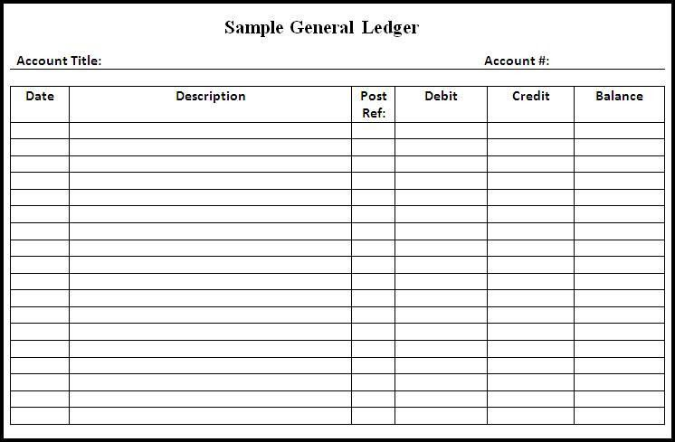 general ledger template pdf