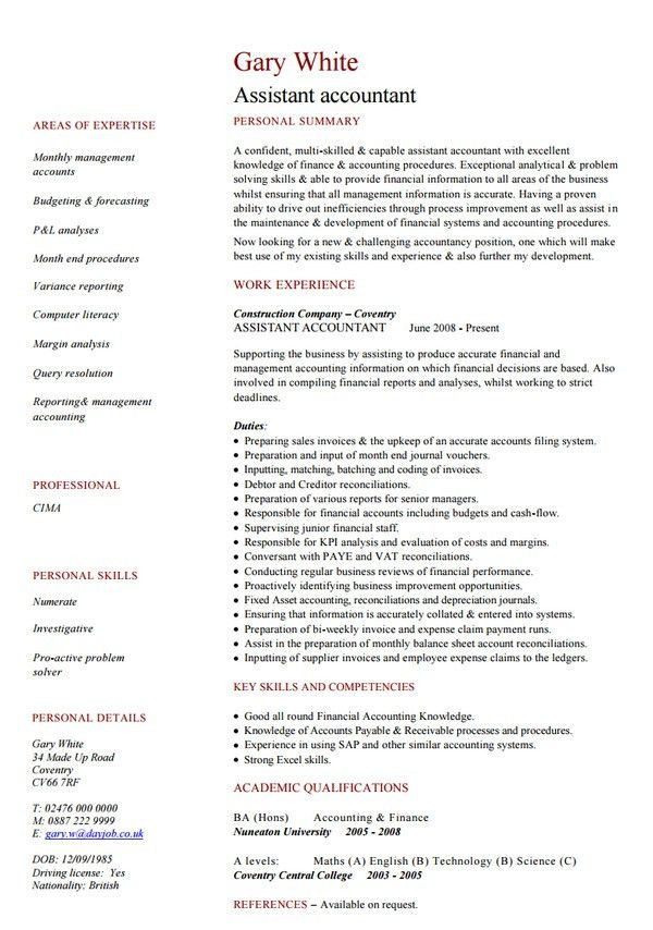 accounting resumes templates 31 best best accounting resume