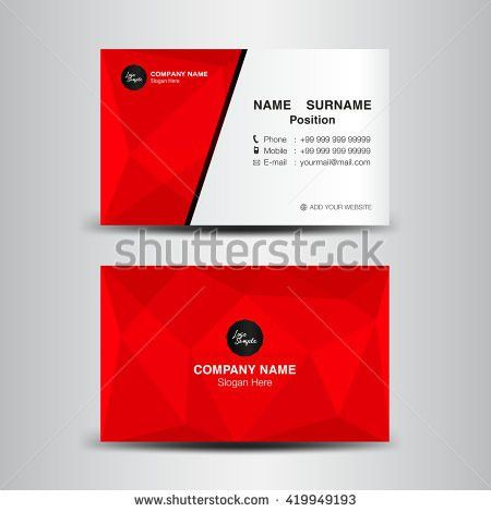 Minimal Corporate Business card vector background,flyer design,red ...