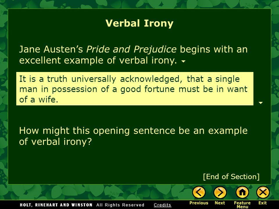 Irony Satire What Is Irony? Verbal Irony Situational Irony - ppt ...