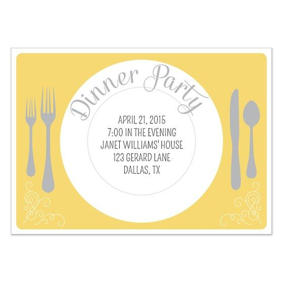 Dinner Party Invitation Template | THERUNTIME.COM