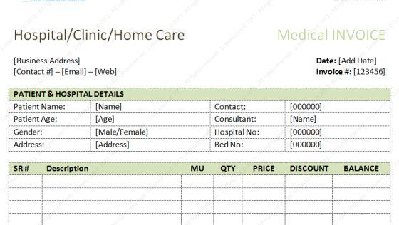 Download Hospital Invoice Template Word | rabitah.net