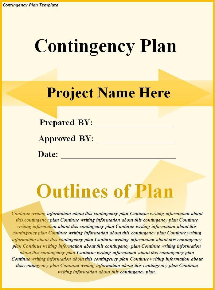 Contingency Plan Template Download Page | Word Excel Formats