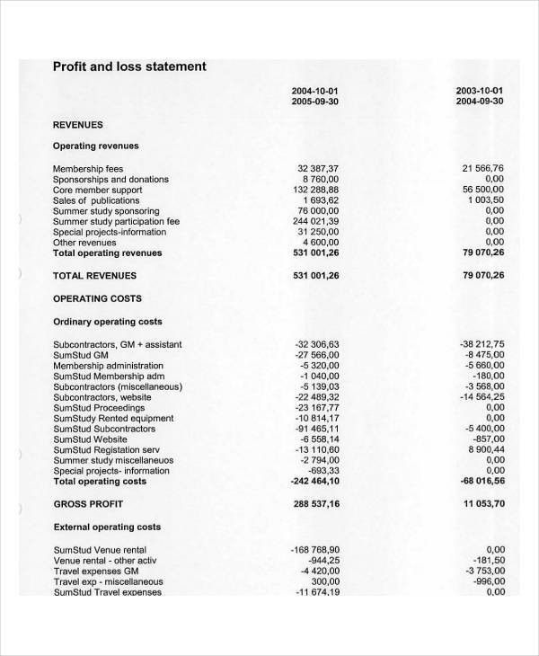 25+ Examples of Profit and Loss Statements