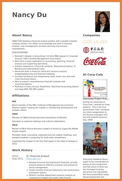 financial analyst resume | sop proposal