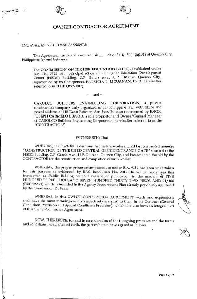 general contract agreement - thebridgesummit.co