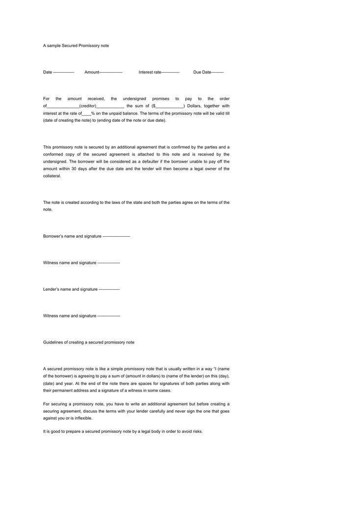 Demand Promissory Note Template, free promissory note templates ...