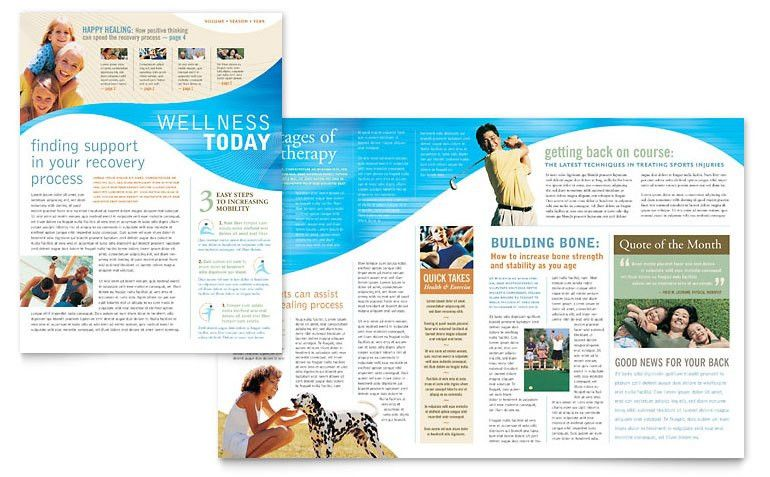 Physical Therapist Newsletter Template - Word & Publisher
