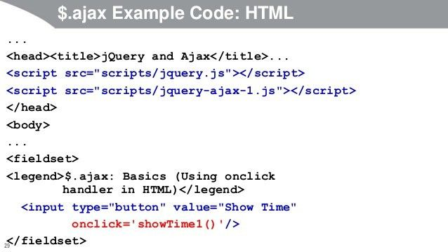 JavaScript and jQuery Programming Tutorial: jQuery Ajax Support: Basi…