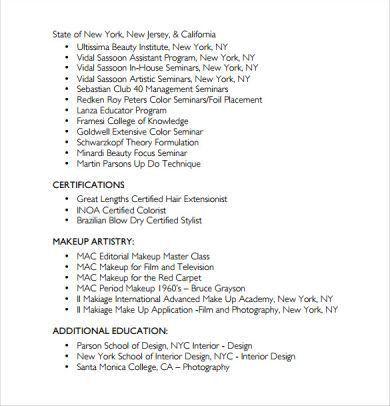 resume example hairdresser hair hair stylist resume samples resume ...