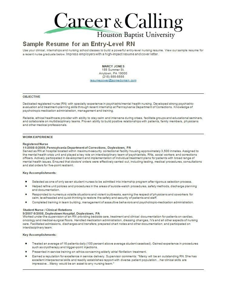 Psychiatric Nurse Resume Sample - http://resumesdesign.com ...