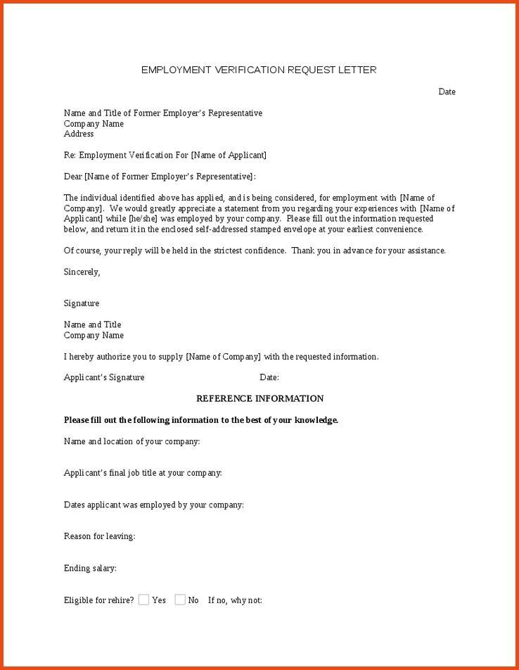 Verification Of Employment Letter.Employment Verification Letter ...