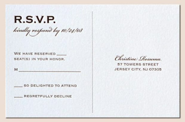 Wedding Invitations Rsvp | badbrya.com