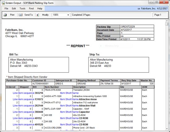 Packing Slip Form] Free Packing Slip Template For Excel And Google ...