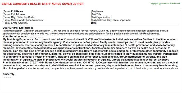 Community Health Staff Nurse Job Title Docs
