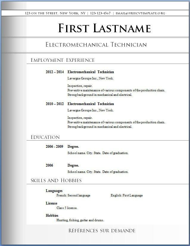 Free Resume Template Download | | ingyenoltoztetosjatekok.com