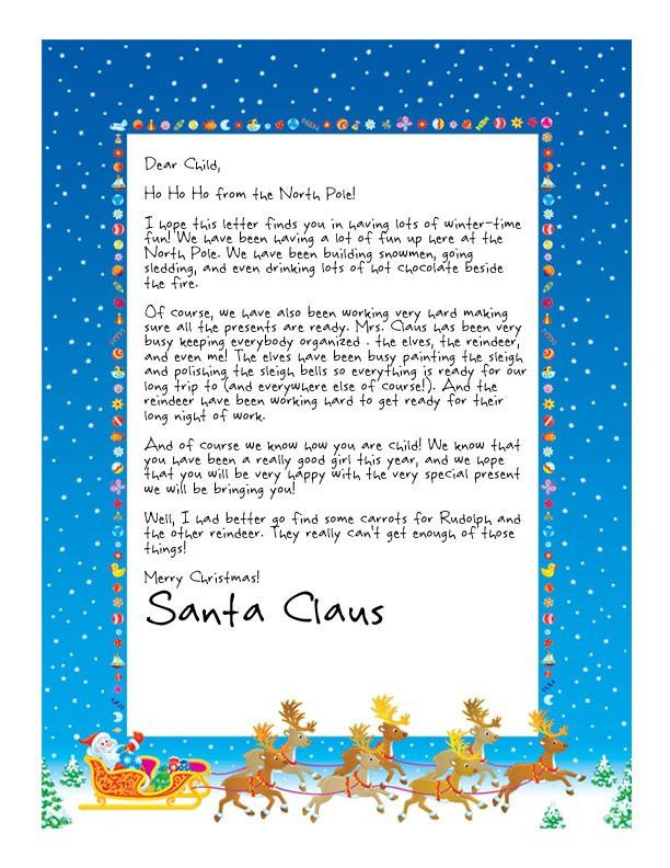 Easy Free Letters from Santa | Customize your text and design and ...