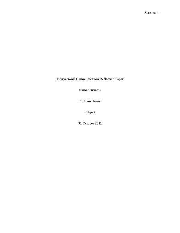 100% original papers - examples a reflection paper