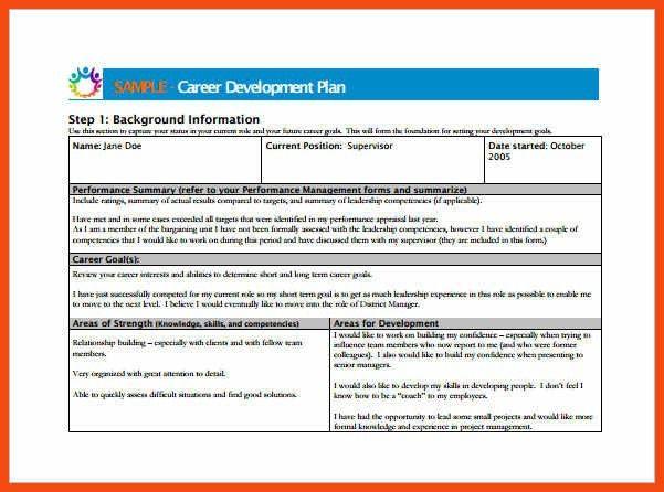 employee development plan template | program format