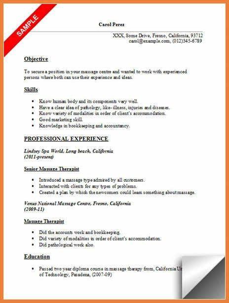 Massage Therapist Resume Examples. Respiratory Therapist Resume .